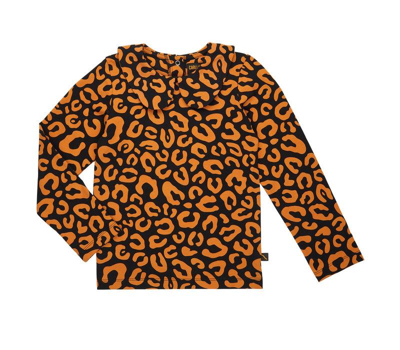 CarlijnQ longsleeve collar leopard