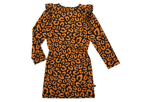 CarlijnQ CarlijnQ ruffled dress leopard