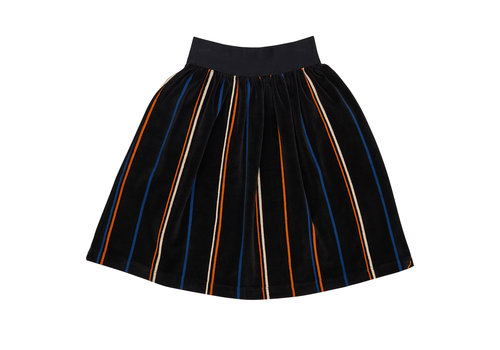 CarlijnQ CarlijnQ long skirt velvet stripe