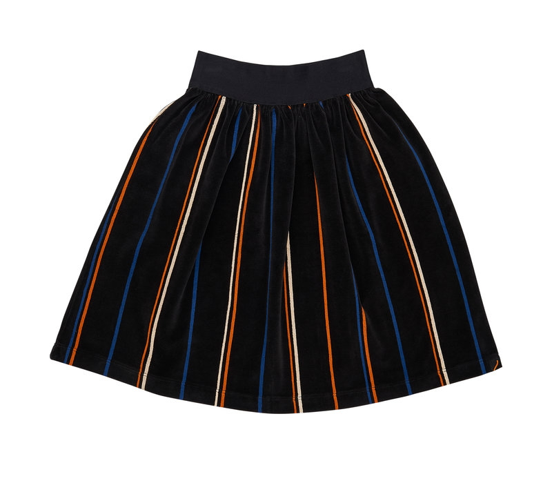 CarlijnQ long skirt velvet stripe