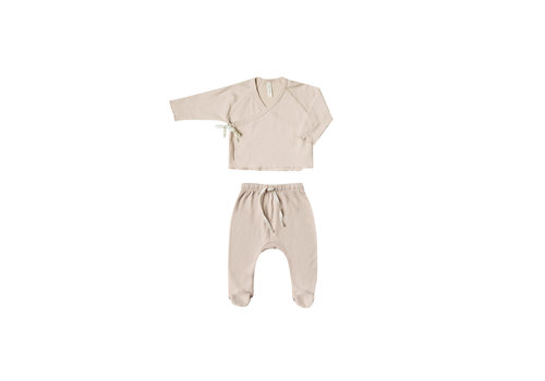 Quincy mae Quincy mae set kimono top footed pants rose