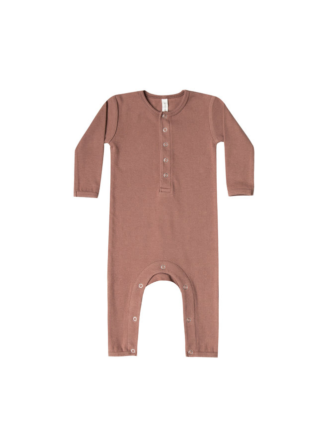 Quincy mae jumpsuit rib clay