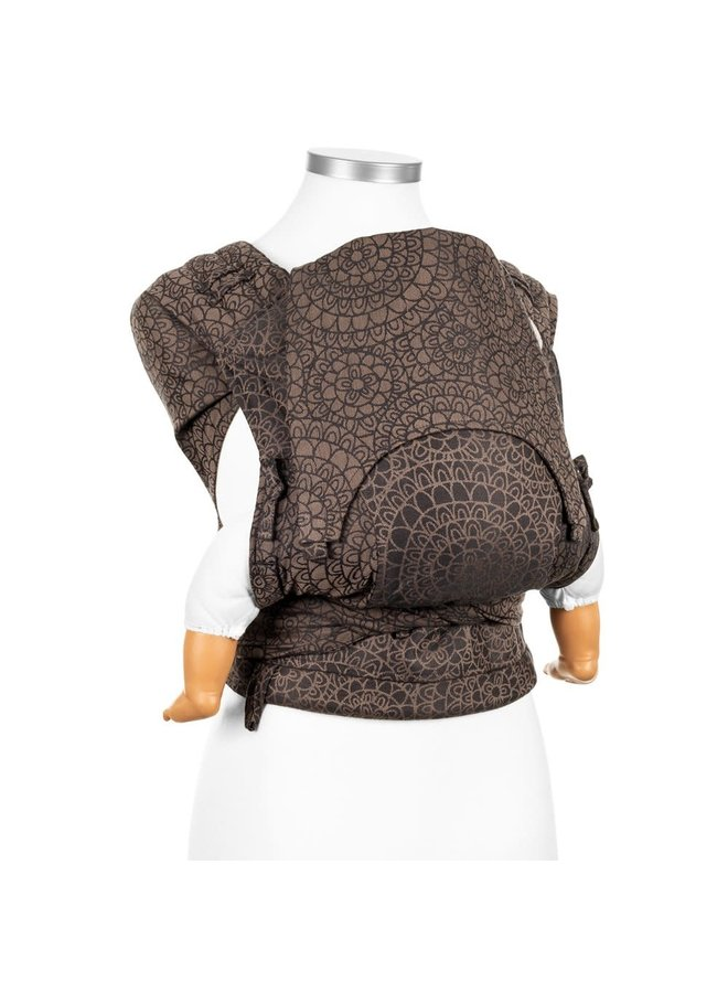Fidella flyclick halfbuckle baby carrier mosaic mocha brown baby