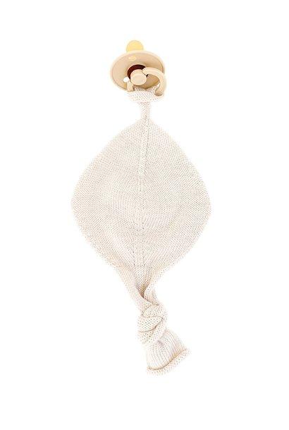 hvid titi speen knuffeldoekje off-white