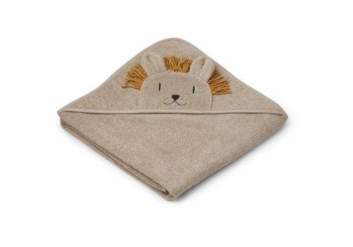 Liewood Liewood hooded towel leeuw beige