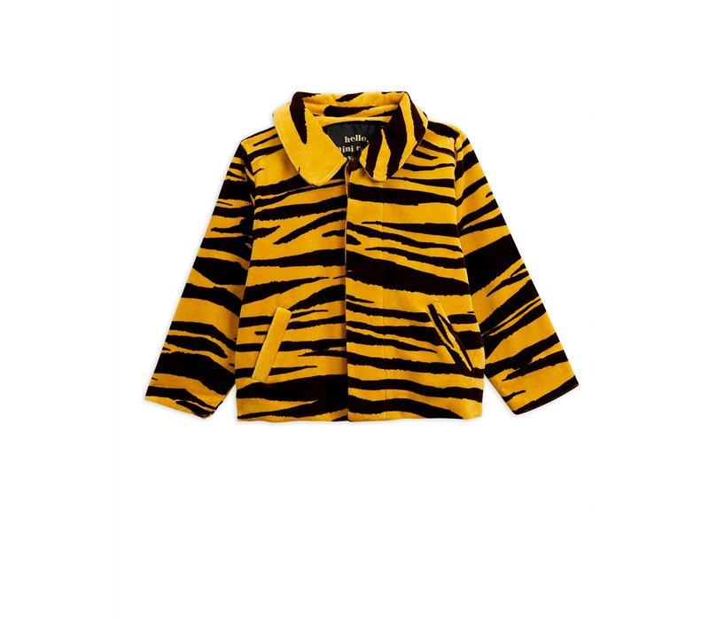 Mini Rodini jacket velour tiger