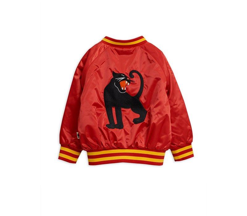 Mini Rodini baseball jacket panther red