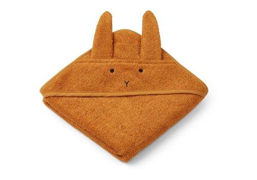 Liewood Liewood hooded towel rabbit mustard