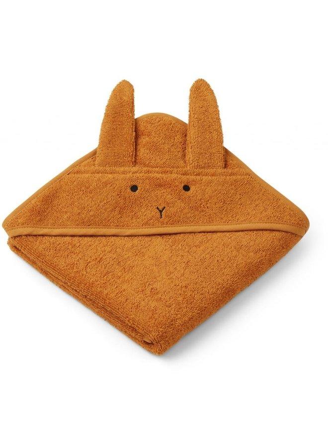 Liewood hooded towel rabbit mustard