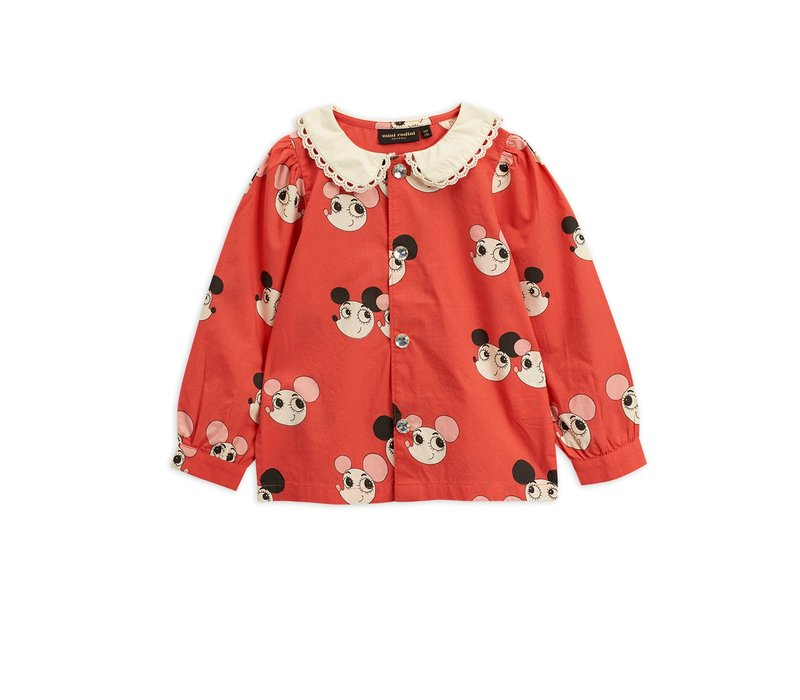 Mini rodini blouse ritzratz red limited