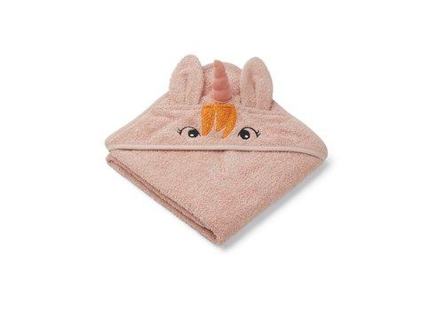 Liewood Liewood hooded towel unicorn rose