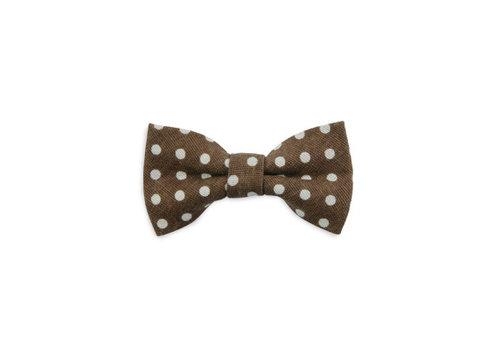 We love ties We love ties kinderstrikje brown dots
