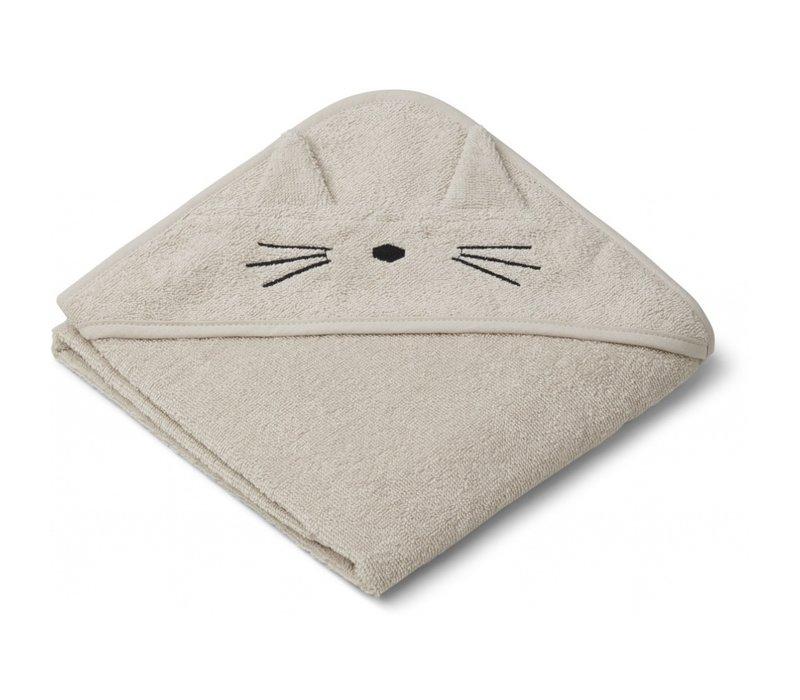 Liewood albert hooded towel cat sandy