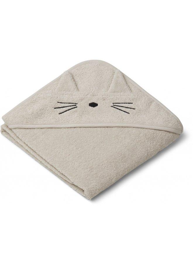 Liewood augusta hooded towel cat sandy