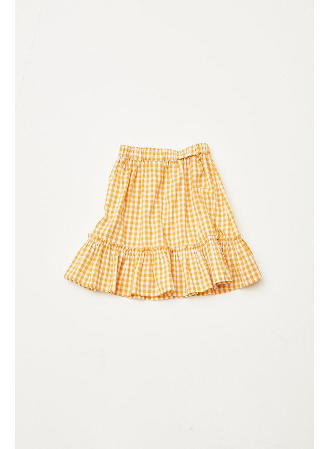The Campamento skirt checked yellow