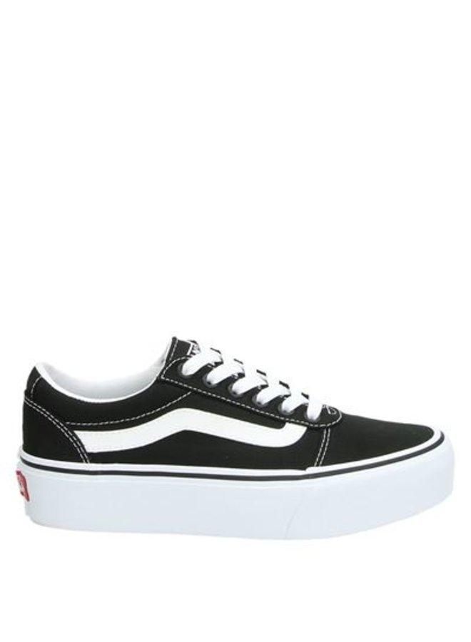 Vans platform black white