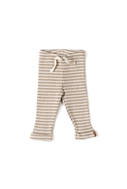 Nixnut rib legging biscuit stripe