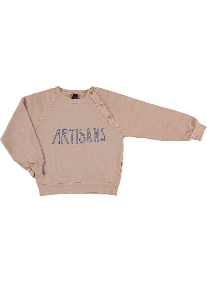 Bonmot sweater sailor dusty coral