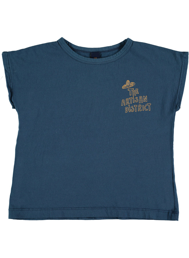 Bonmot t-shirt summer artisan navy