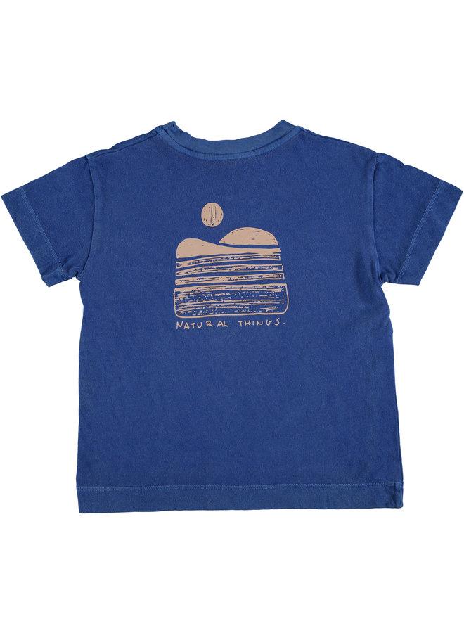 Bonmot t-shirt classic natural fresh blue