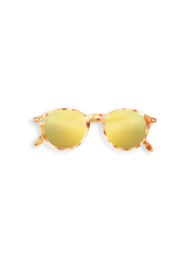 Izipizi zonnebril #D yellow tortoise yellow lenses