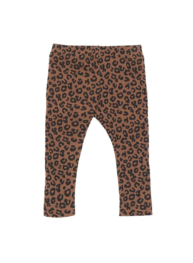 Maed for mini legging chocolate leopard