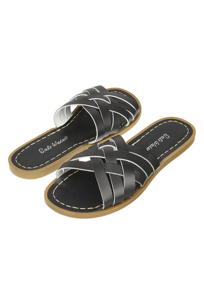Salt water sandals adult retro slide black