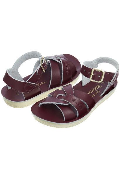 Salt water sandals swimmer claret