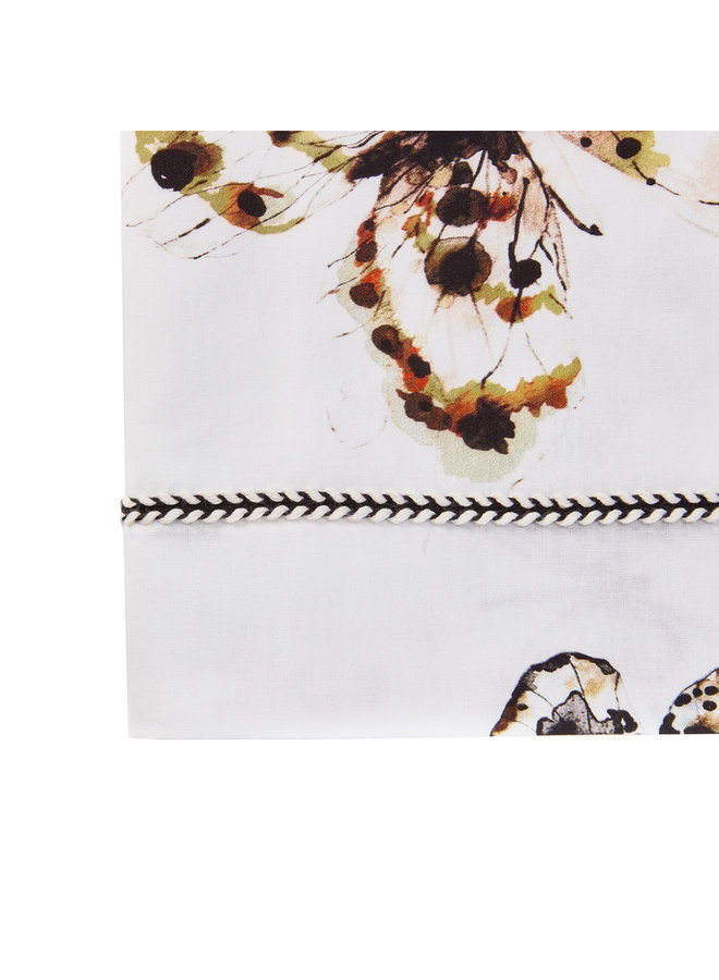 Mies & Co Wieg laken fika butterfly offwhite