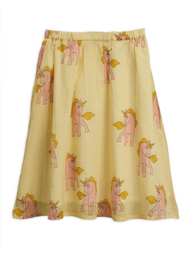 Mini Rodini woven skirt unicorns