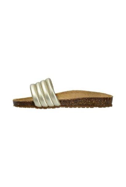 LMDI cork slippers gold