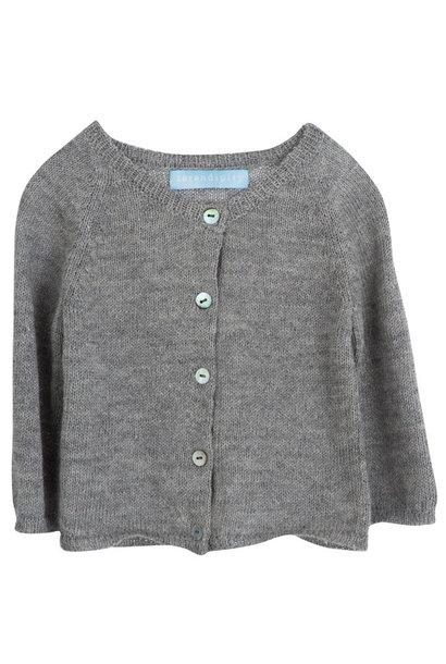 Serendipity cardigan lama/ silk light grey