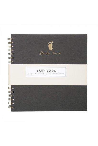 Baby boek linnen grey