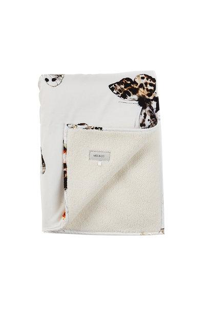 Mies & Co Soft teddy ledikant deken fika butterfly