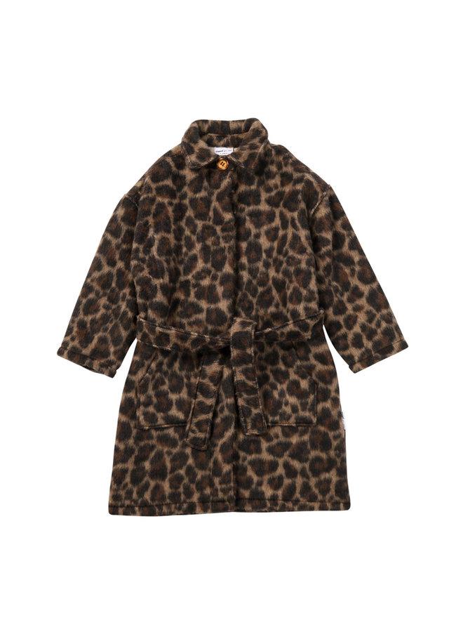 Maed for mini long coat leading leopard
