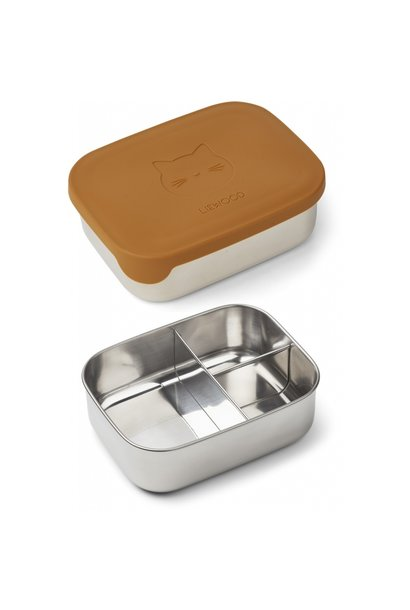Liewood lunchbox Arthur cat mustard
