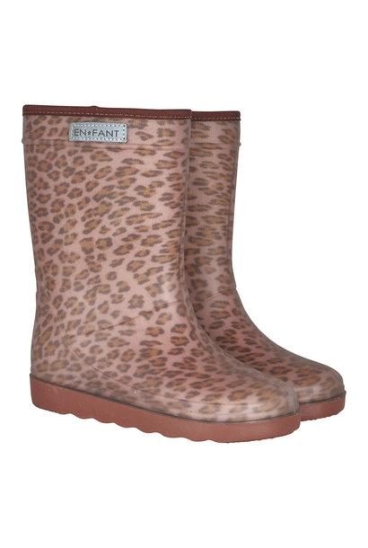 Enfant laarzen leopard rose
