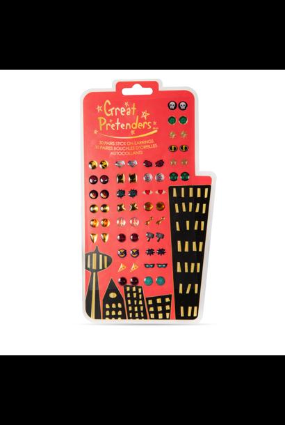 Great Pretenders superheld oorbel stickers