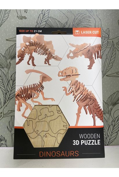 Wonder houten 3D puzzel dino's