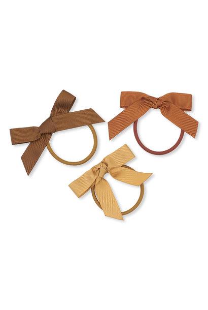 Konges Slojd 3 pack hair elastics bow moonbeam