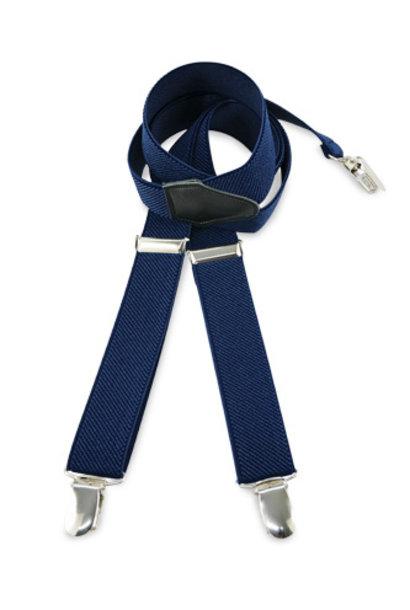 We love ties bretels uni blauw