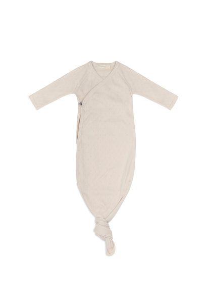 Phil & Phae knotted baby gown pointelle oatmeal