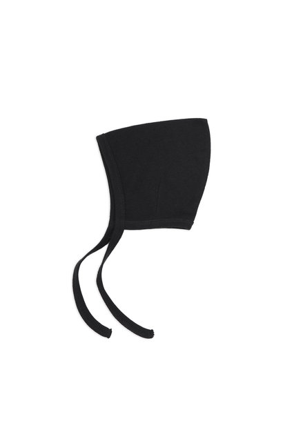 Phil & Phae pointed bonnet pointelle charcoal