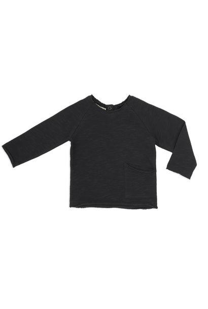 Phil & Phae raw-edged sweater charcoal