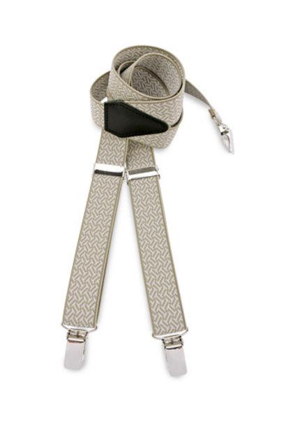We love ties bretels beige patroon