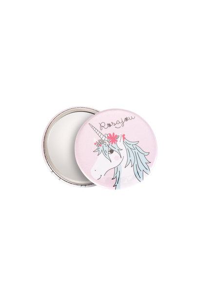 Rosajou pocket mirror unicorn