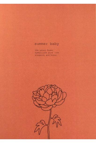 Mus & Bloem kaart summer baby