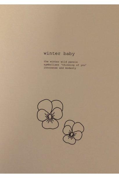 Mus & Bloem kaart winter baby