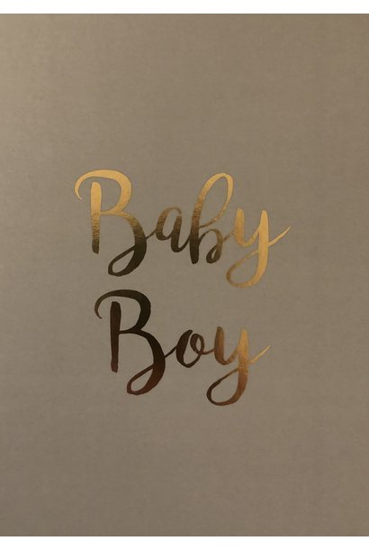 Mus & Bloem kaart baby boy gold