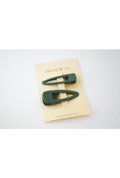 Grech & Co matte clips set van 2 fern